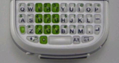 AT&T Centro Green Keyboard