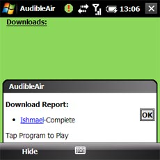 AudibleAir - Download Complete