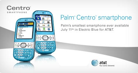 Electric Blue Palm Centro