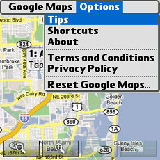 Google Maps Menu 2