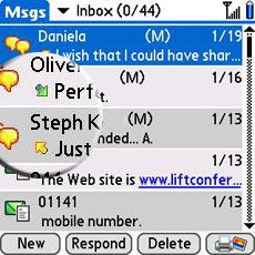 Palm Centro SMS