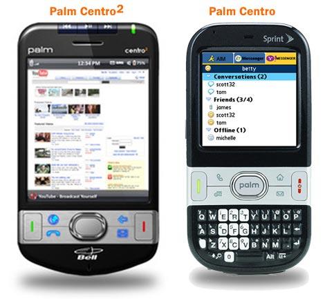 Palm Centro2 Comparison