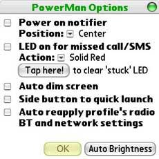 PowerMan Options