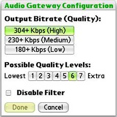 Softick Audio Gateway setting 1