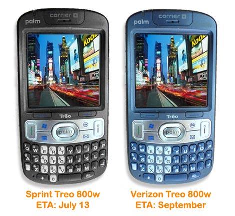 Sprint Treo 800w ETA