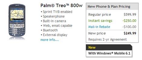 Sprint Treo 800w Pricing