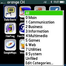 TouchLauncher - Categories