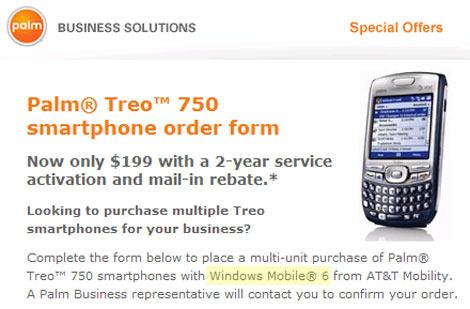 Treo 750 WM6 Corporate Sales