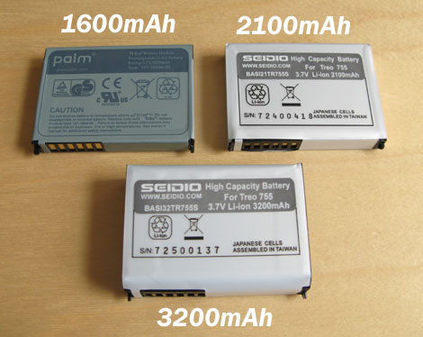 Treo 755p Batteries
