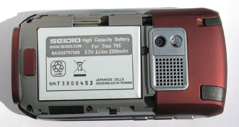 Treo 755p Extended Battery