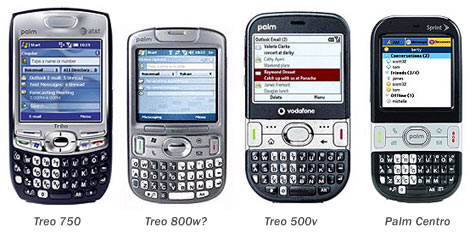Treo 800w Size Comparison