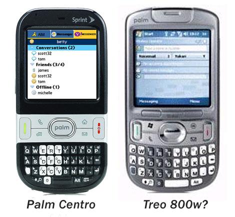 Treo 800w - Palm Centro Comparison