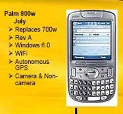 Treo 800w Specifications