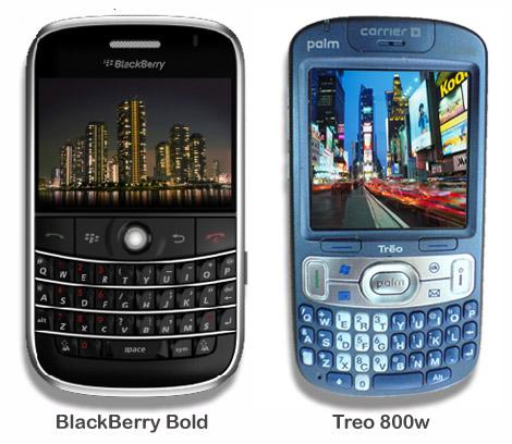 Treo 800w & BlackBerry Bold