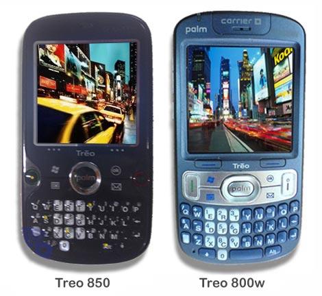 Treo 800w vs. Treo 850
