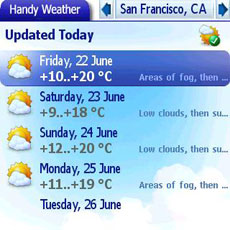Treo Handy Weather Week 1