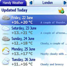 Treo Handy Weather Week 2