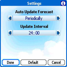 Treo Handy Weather Update