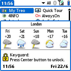 Treo Handy Weather KeyGuard