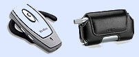Treo Headset + Palm Leather Side Case
