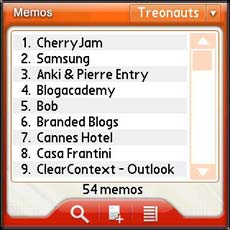 TreoMemo Software