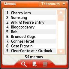 TreoMemo Software
