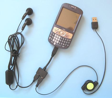 Treo 800w Power & Audio Adapter