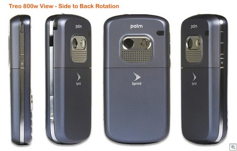 Sprint Treo 800w - Back Rotation