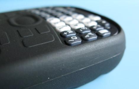 Treo 800w skin case - keyboard detail