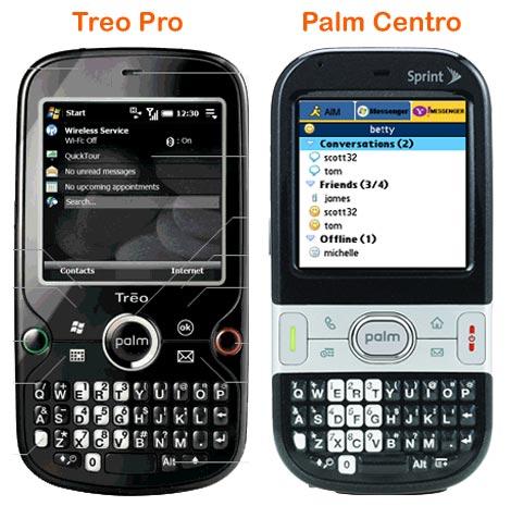 Treo Pro Size Comparison