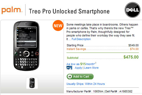 Treo Pro - Dell Offer