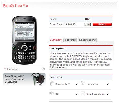Treo Pro Vodafone