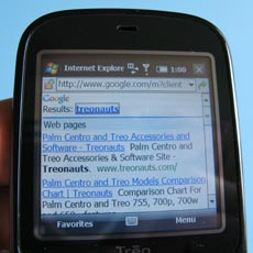 Treo Pro - Browser