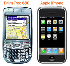 Treo iPhone Image Comparison