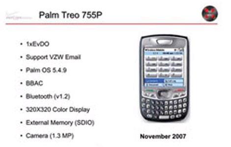 Verizon Treo 755p Details