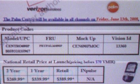 Verizon Centro Release Date