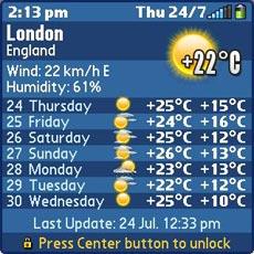 Weather - Keyguard 7 Days