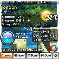 Weather software for Centro & Treo
