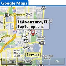 Google Maps v1.0 - Location Search